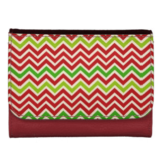 Holiday Zig Zag Design Faux Leather Wallet