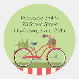 holidaybike1c classic round sticker