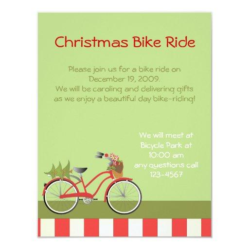 """holidaybike1c invitación 4.25"""" x 5.5"""""""