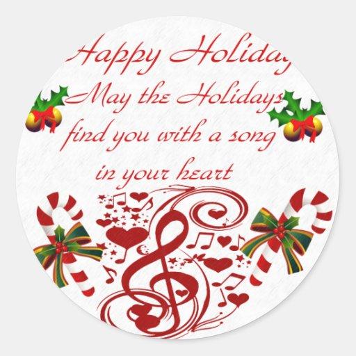 Holidays#9_ feliz etiquetas redondas