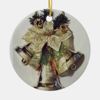 Holidays_ alegre adorno redondo de cerámica