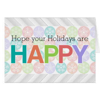 Holidays are Happy, Colorful Pastel Promo Greeting Card