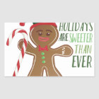 Holidays Are Sweeter Rectangular Sticker