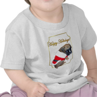Holidays boxer puppy toddler shirt