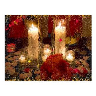 Holidays Candles Postcard