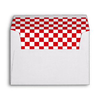 Holidays Checkered Envelopes
