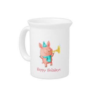 Holidays Cute Pig Beverage Pitcher