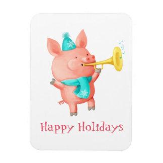 Holidays Cute Pig Magnet