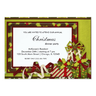Holidays dinner personalized invites