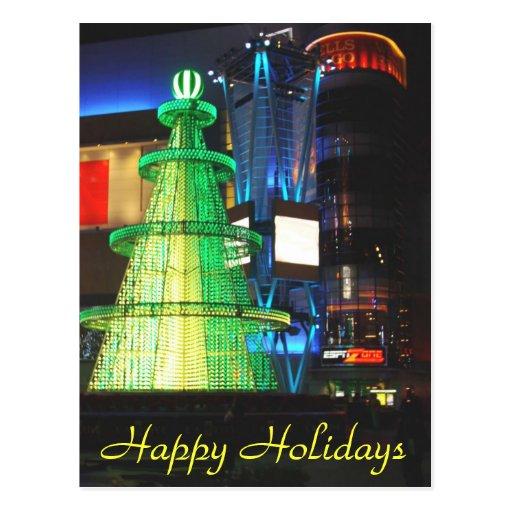 Holidays_ feliz tarjeta postal