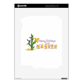 Holidays From Mexico! Skins For iPad 2