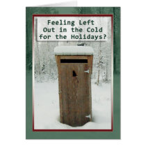 Holidays Funny Outhouse in Snow Card