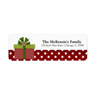 Holidays Gift Exchange Custom Return Address Label