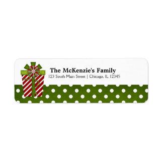 Holidays Gift Exchange Return Address Labels