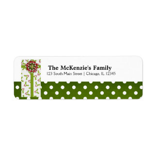 Holidays Gift Exchange Return Address Label