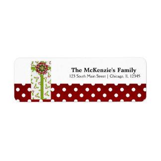 Holidays Gift Exchange Custom Return Address Labels