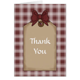Holidays Gift Thank You Note Card