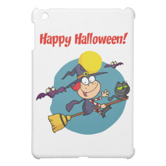 Holidays Greeting With Halloween Little Witch iPad Mini Cases