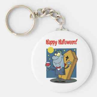 Holidays Greeting With Halloween Vampire Keychain