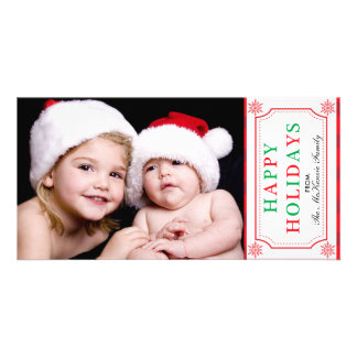 Holidays Greetings Personalized Photo Card