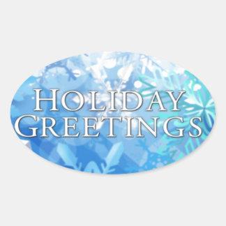 Holidays greetings sticker