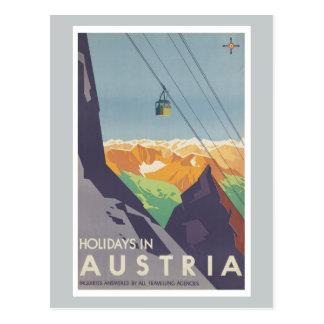 Holidays in Austria Mountains Vintage Travel Postcard