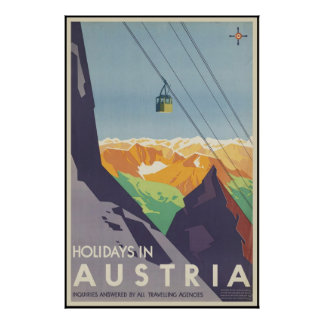 Holidays in Austria Poster