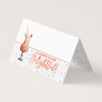 Holidays in the Tropics Teal Bubbles & Baubles Place Card