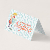 Holidays in the Tropics Teal Palms Place Setting Place Card