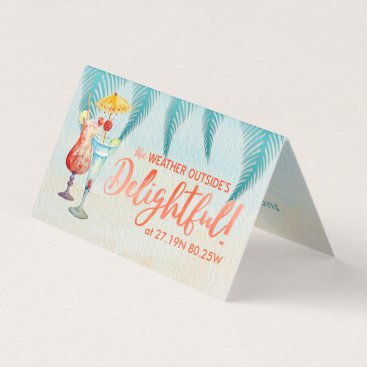 Holidays in the Tropics Watercolor Gift Tags