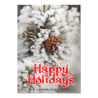 Holidays - Lodgepole Pine cone - Yellowstone Card