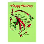 Holidays_Noble feliz hace frente a la tarjeta