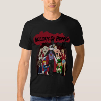 Holidays Of Horror (In Black) T-shirt