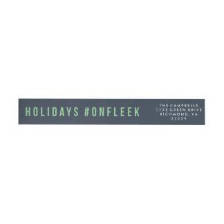 Holidays On Fleek Wrap Around Label