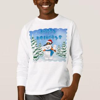 Holidays Polar Bear Penguin Kid's Long Sleeve T T-Shirt