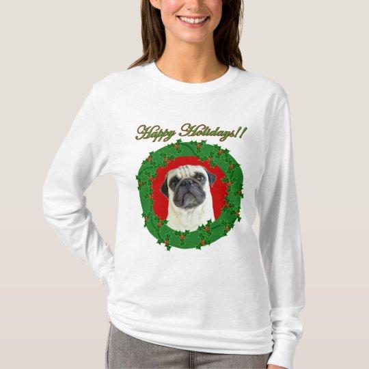 Holidays pug hooded shirt