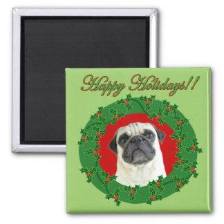 Holidays pug magnet
