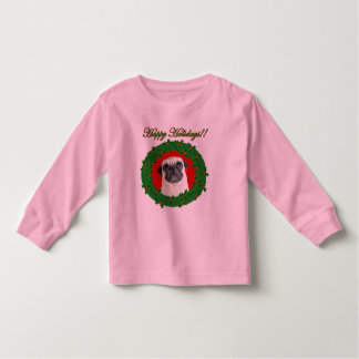 Holidays pug toddler shirt