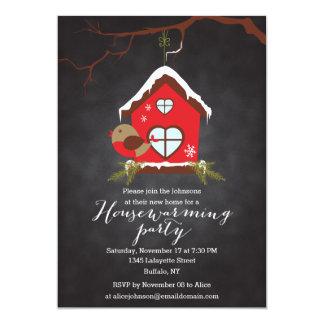 Holidays Robin Housewarming Party Card