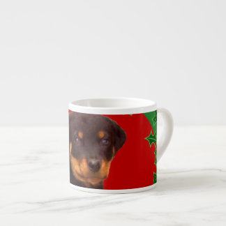 Holidays Rottweiler puppy Espresso Cup
