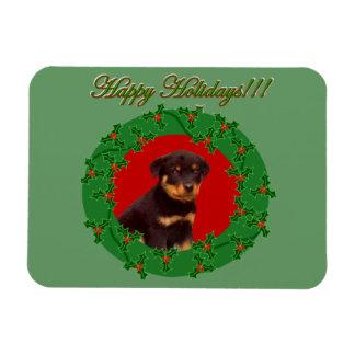 Holidays Rottweiler puppy Magnet