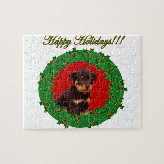 Holidays Rottweiler puppy Puzzle