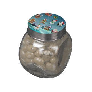 Holidays Scene Jelly Belly Candy Jar