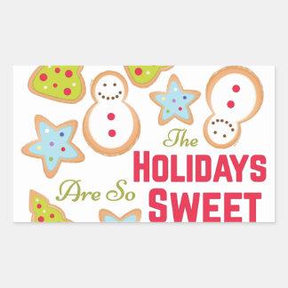 Holidays Sweet Rectangular Sticker