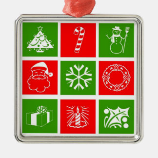 Holidays Symbol Red Green Ornament