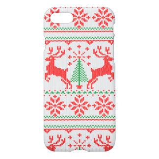 Holidays White Knit Christmas Ugly Sweater Ho Deer iPhone 7 Case