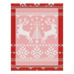 Holidays White Knit Ugly Sweater Ho Deer Custom Letterhead