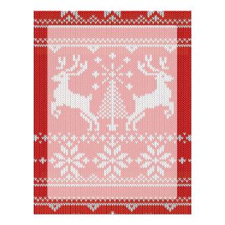 Holidays White Knit Ugly Sweater Ho Deer Custom Letterhead