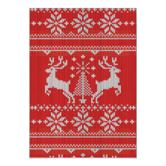 Holidays White Knit Ugly Sweater Style decor Card