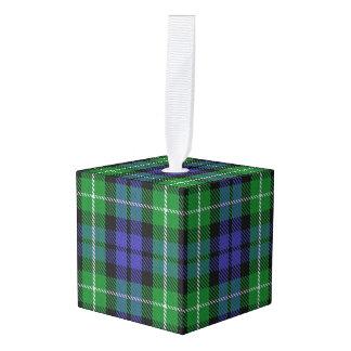 Holidaytime Clan Graham Tartan Plaid Cube Ornament